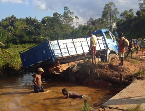 lorry flood